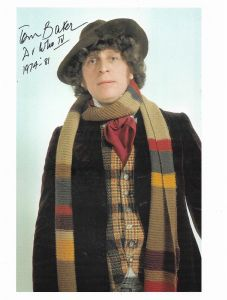 Tom Baker 4th Doctor DOCTOR WHO  Genuine Signed Autograph 10 X 8 COA 11385